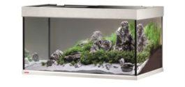 EHEIM AQUARIUM PROXIMA 250 CLASSIC LED 101X51X57 CM Kleur: Aluminium Inhoud: ca. 250 L; Grootte: 101 x 57 x 51 cm Inclusief: Lichtkap met 2x17 W ClassicLed Day