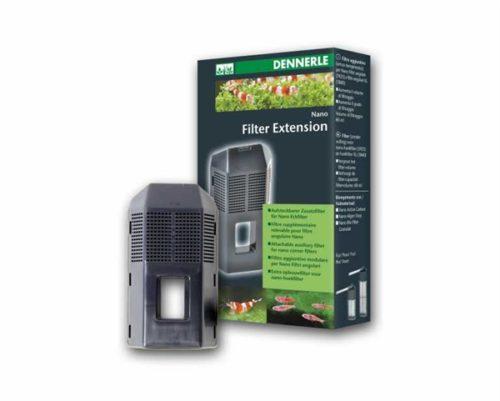 DENNERLE NANO FILTER EXTENSION Extra opbouwfilter voor de Nano Hoekfilter en Nano Hoekfilter XL. Bijzonders aan te bevelen bij de aanwezigheid van vissen. Het verhoogt de prestatie van de filter, of kan evt. voor een korte termijn als aanvullende filtering met actieve koolstof of fosfaatbinders worden gebruikt.