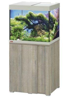 EHEIM SET VIVALINE 150 LED 61X51X124 CM GRIJS/EIKEN 2X12W De Eheim Vivaline Led serie kan perfect aan uw interieur worden aangepast door het feit dat het decorpaneel in het meubel verwisselbaar is. Daarmee wordt uw aquarium zo individueel als u wilt. Kleur: Grijs-Eiken, Wit, Antraciet Inhoud: ca. 150 L; Grootte aquarium: 60 x 50 x 50 cm Inclusief: 2 x 7,7 W Classic Led Day 1x Eheim Binnenfilter Biopower 200 (2412); 1x Jäger verwarmer 100 W Alleen als set verkrijgbaar; Grootte set: 61 x 51 x 124 cm