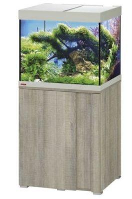 EHEIM SET VIVALINE 150 LED+ 61X51X124 CM GRIJS EIKEN De Eheim Vivaline Led+ serie kan perfect aan uw interieur worden aangepast door het feit dat het decorpaneel in het meubel verwisselbaar is. Daarmee wordt uw aquarium zo individueel als u wilt. Kleur: Grijs-Eiken, Wit, Antraciet Inhoud: ca. 150 L; Grootte aquarium: 60 x 50 x 50 cm Inclusief: 2 x 7,7 W Classic Led Day 1x Eheim Buitenfilter Experience 150 (2422); 1x Jäger verwarmer 100 W Alleen als set verkrijgbaar; Grootte set: 61 x 51 x 124 cm