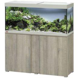 EHEIM SET VIVALINE 240 LED+ 121X41X124 CM GRIJS EIKEN De Eheim Vivaline Led+ serie kan perfect aan uw interieur worden aangepast door het feit dat het decorpaneel in het meubel verwisselbaar is. Daarmee wordt uw aquarium zo individueel als u wilt. Kleur: Grijs-Eiken, Wit, Antraciet Inhoud: ca. 240 L; Grootte aquarium: 120 x 40 x 50 cm Inclusief: 1 x 17,5 W Classic Led Day 1x Eheim Buitenfilter Experience 250 (2424); 1x Jäger verwarmer 150 W Alleen als set verkrijgbaar; Grootte set: 121 x 41 x 124 cm