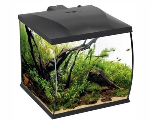 HS AQUA AQUARIUM BELLY 30 LED ZWART 31X34X32 CM